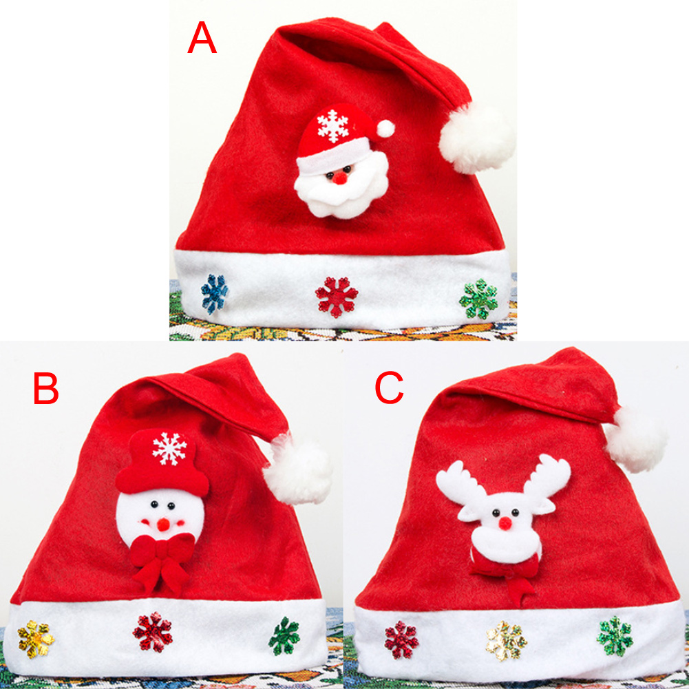 Kids Baby Christmas Hat Santa Claus Reindeer Snowman Fashion Party Caps for Boys Girls