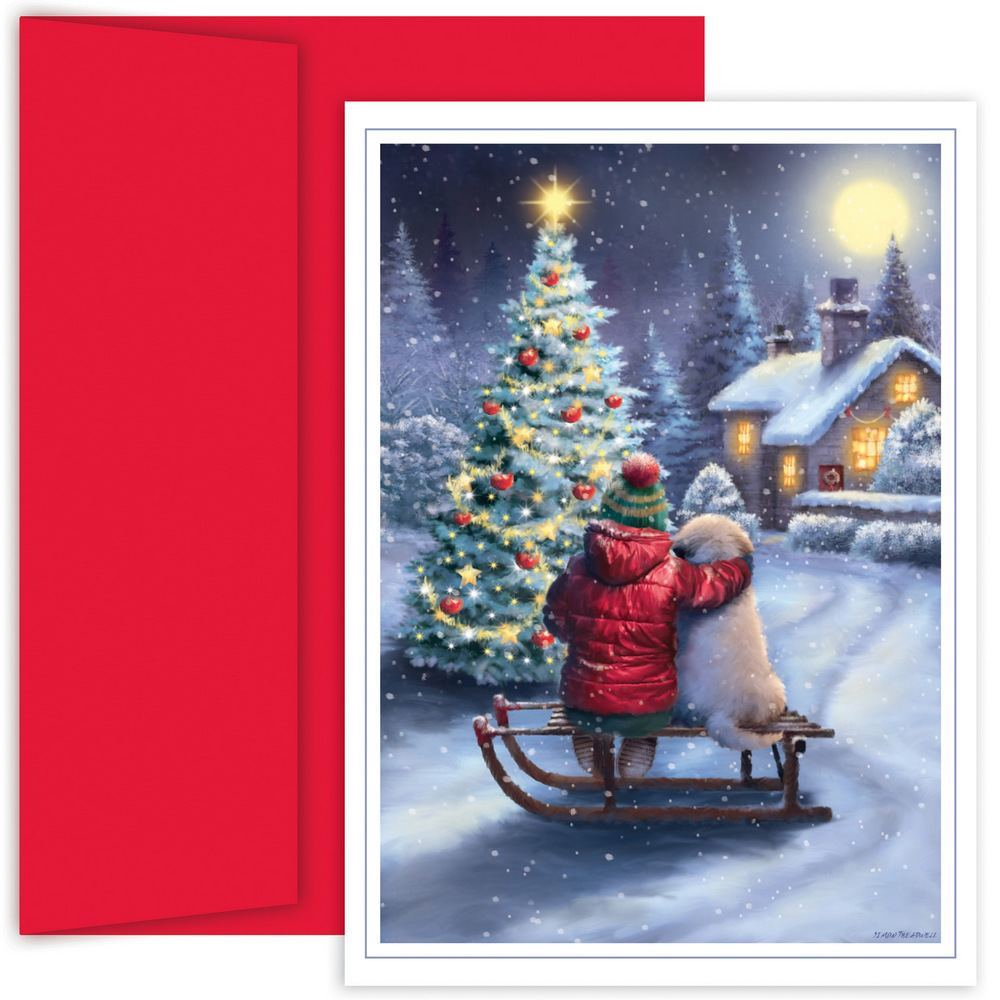 JAM Paper Christmas Card Set, Best Friends Holiday Cards, 18 Cards & Envelopes/Pack
