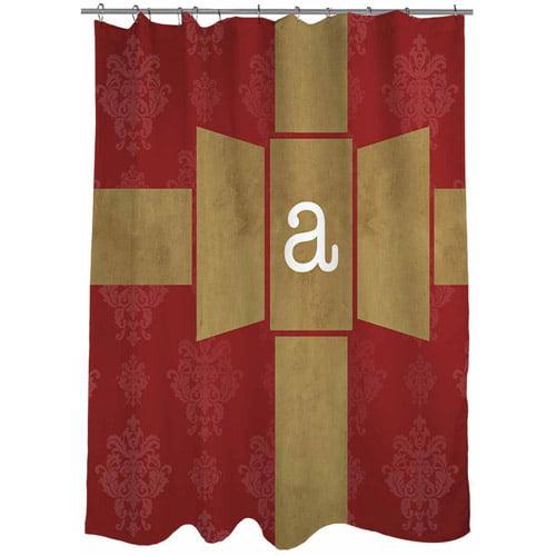 Thumbprintz Giftwrap Monogram Shower Curtain