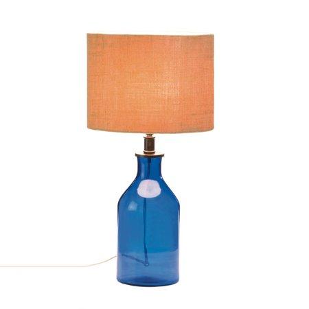 Bedside Table Lamps Side Lamp Living Room Blue Gl Bottle