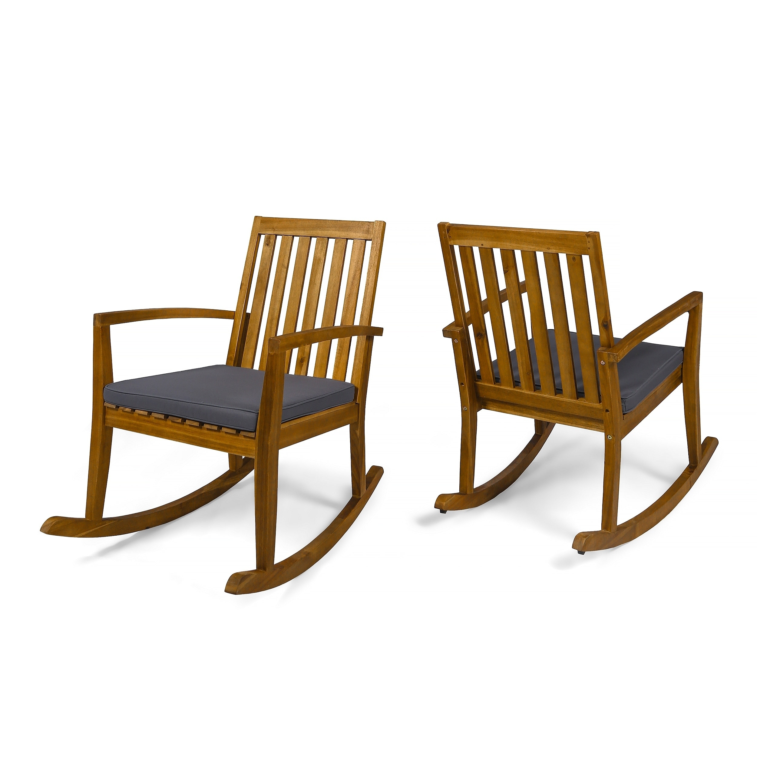 Christopher Knight Home Montrose Traditional Outdoor Acacia Wood Rocking Chairs (Set of 2) by
