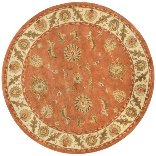 Dynamic Rugs Charisma 1405 Polyn Persian Rug - Rust/Ivory