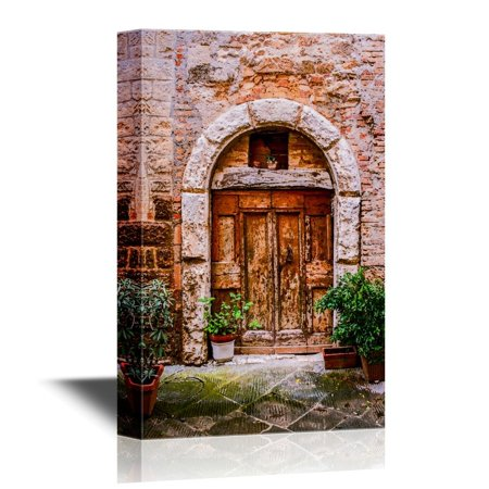 wall26 Doors Canvas Wall Art - Old Doors of Tuscany Italy - Gallery Wrap Modern Home Decor | Ready to Hang - 32x48 inches