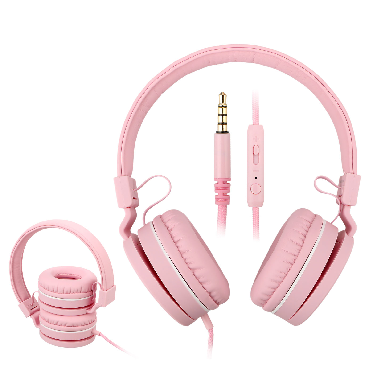 Children Headphones, EEEKit Universal Lightweight Safe Sound On-Ear Headsets Children Wired Foldable Earphone with 3.5mm Jack for Phone, MP3/4, PC, Tablet