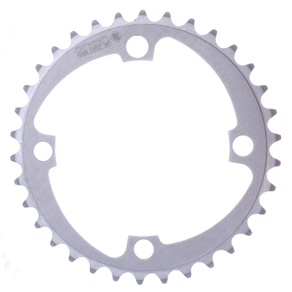 CHAINRING Origin-8 104mm 34T 4BOLT Alloy Silver