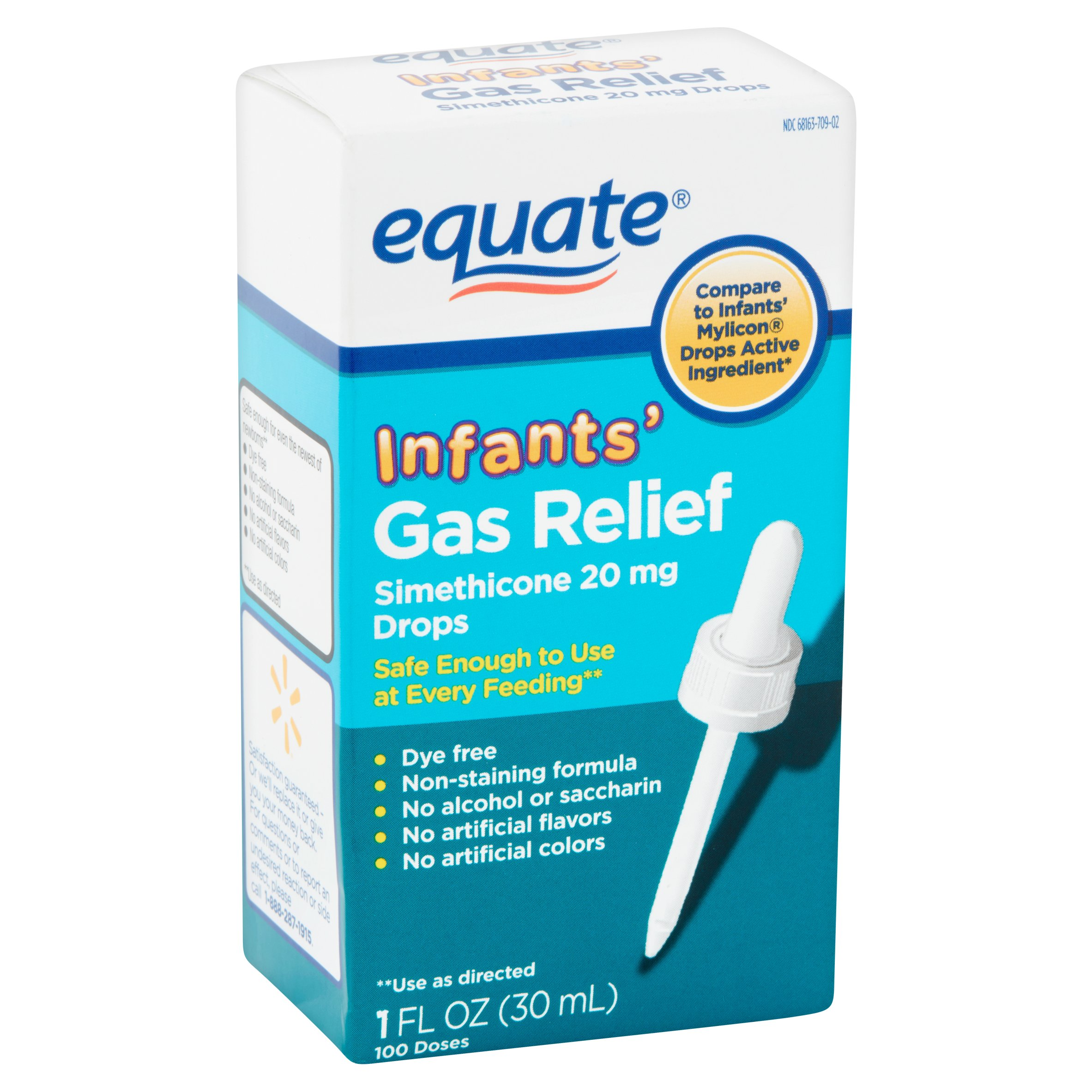 Equate Non Staining Formula Infants' Gas Relief Drops, 1 fl oz ...