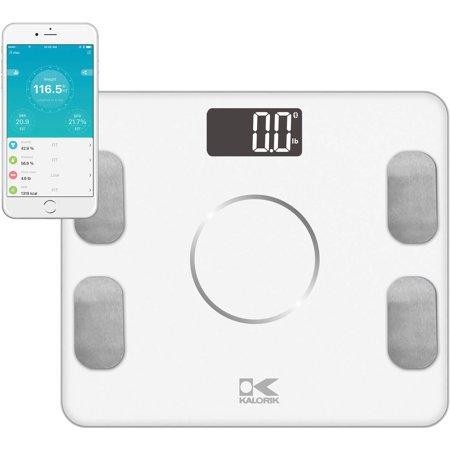 Kalorik Bluetooth Electronic Body Fat Scale With Ysis White