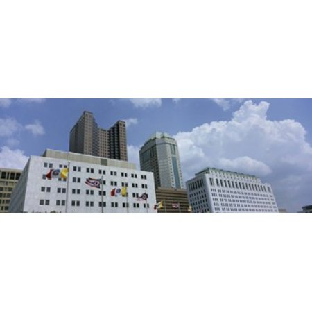 USA Ohio Columbus Cloud over tall building structures Stretched Canvas - Panoramic Images (36 x 13) - Halloween Usa Columbus Ohio