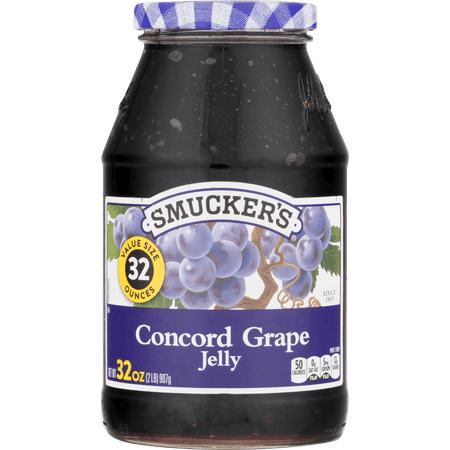 - (3 Pack) Smucker's Concord Grape Jelly, 32 oz
