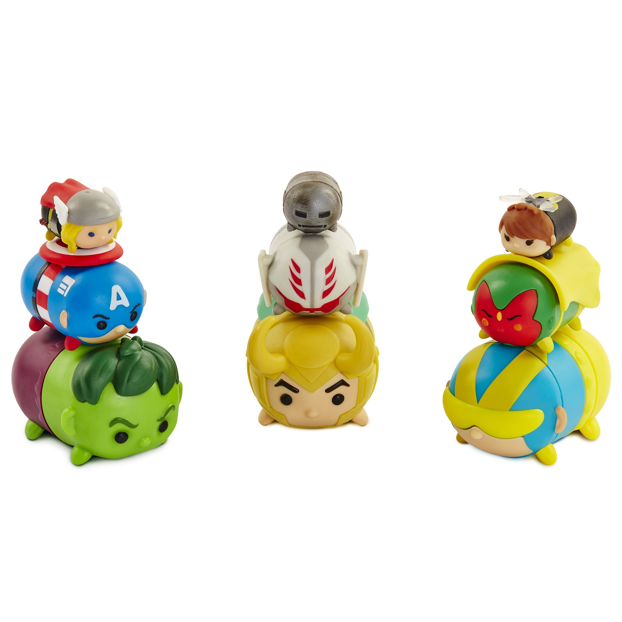 Marvel Tsum Tsum 9-Pack Figures - Giant Man, Loki, Hulk, Vision, Captain America, Ultron, Thor, Wasp & Iron Mark