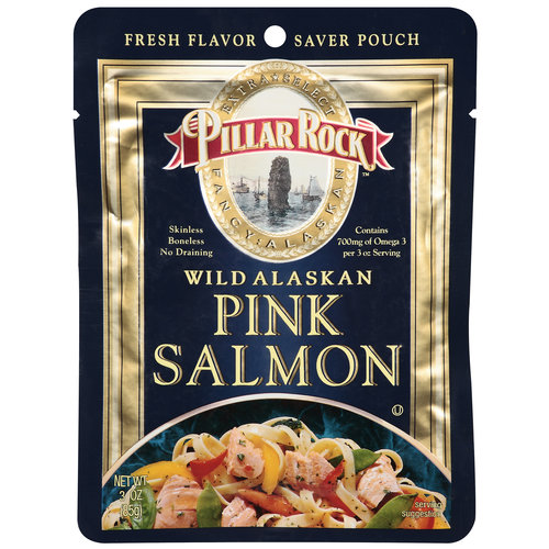 Pillar Rock Wild Alaskan Pink Salmon, 3 oz