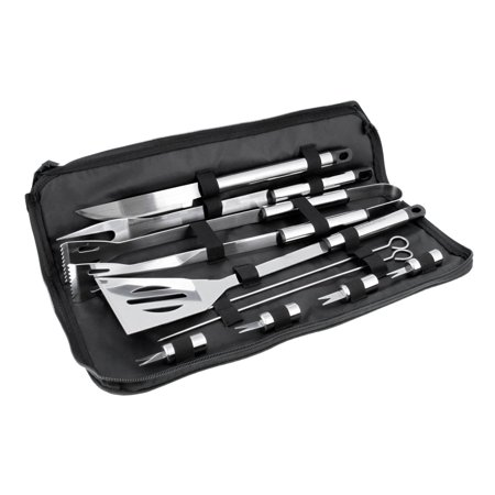 11 Piece Professional BBQ Grill Tool Set with Storage Bag