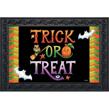 Halloween Trick or Treat Doormat Holiday Indoor Outdoor 18