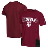 Texas A&M Aggies Youth Synthetic Colorblock T-Shirt - Maroon