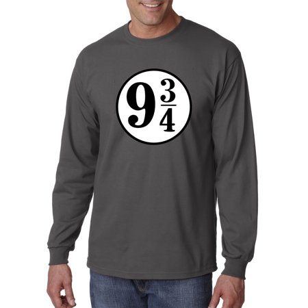 New Way 929 - Unisex Long-Sleeve T-Shirt 9 3/4 Harry Potter Hogwarts Express Large