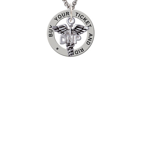 Caduceus - DNP Buy Your Ticket And Ride Affirmation Ring Necklace