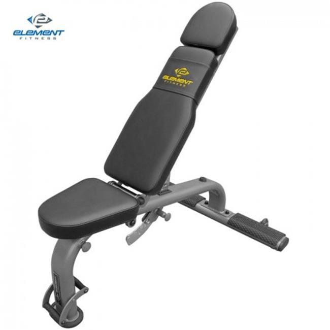 Element Fitness E-500-824FID Commercial Fid Bench, Flat, ...