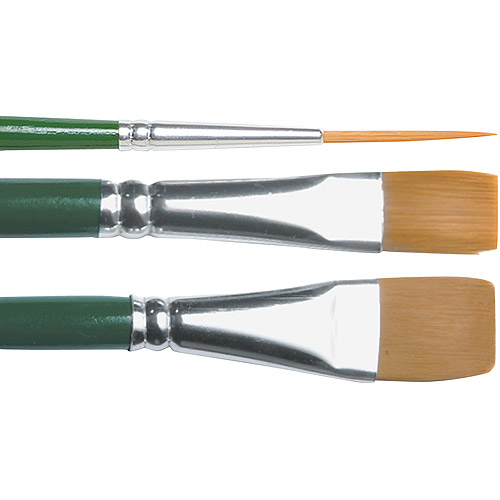 "Plaid 1-Stroke Brush Set, #2 Script, #12 Flat, 3/4"" Flat"