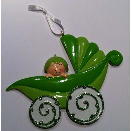First Christmas Carriage (Peapod Carriage 1 Personalized Christmas Ornament DO-IT-YOURSELF)