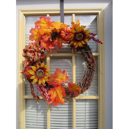 LAMINATED POSTER Season Leaves Wreath Autumn Fall Thanksgiving Poster Print 24 x 36 ()