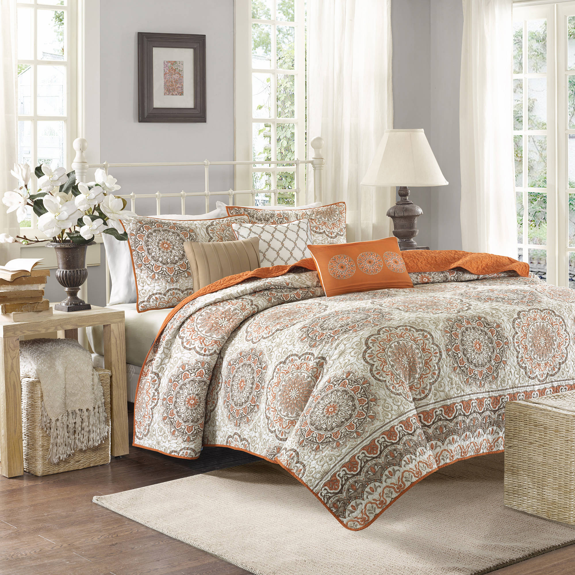 Home Essence Menara Quilted Coverlet Set   Walmart.com