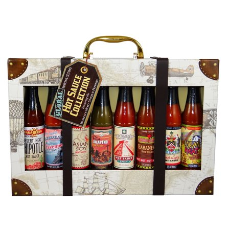 Dat'l Do-It Global Hot Sauce Gift Set, 8 Assorted Flavors, 24 Total Ounces, 1Ct. Pasta Gift Set