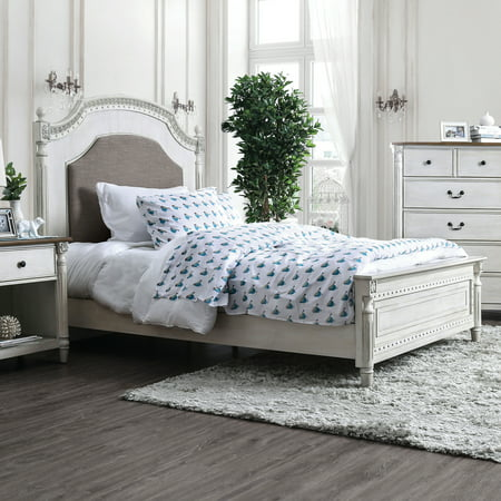 Furniture Of America Adelaide Transitional Antique White Panel Bed