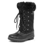 DREAM PAIRS Women's River_1 Black Mid Calf Winter Snow Boots Size 7 M US