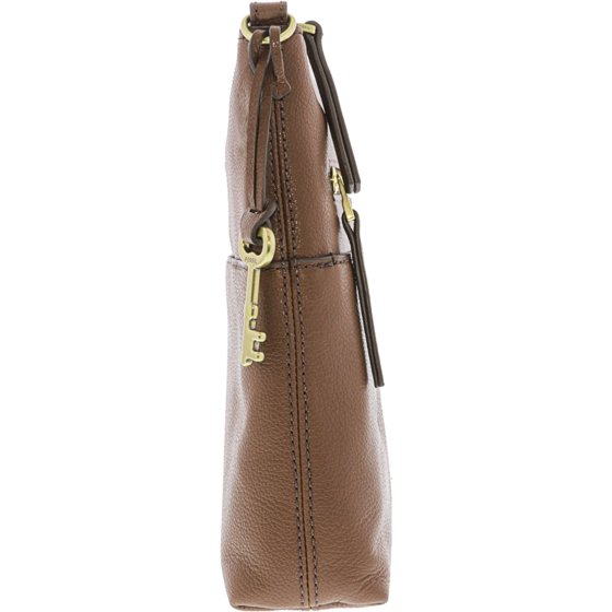 b6019dd58716 Fossil Women s Fiona Large Crossbody Leather Cross Body Bag - Medium Brown