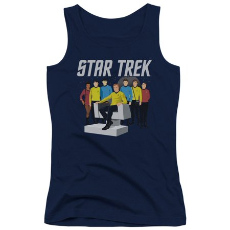 Star Trek Tv Series Vector Crew Kirk Spock Scotty Mccoy Juniors Tank Top Shirt