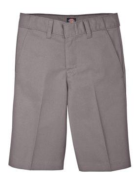 Genuine Dickies Husky Boys School Uniform Flex Waist Flat Front Shorts (Husky)