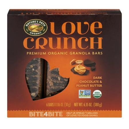 Nature's Path Organic Love Crunch Premium Organic Granola Bars Dark Chocolate & Peanut Butter - 6 CT1.06 OZ