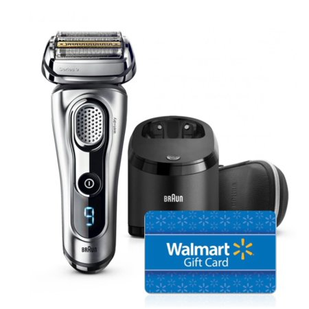 [Bonus: $40 eGift Card] Braun Series 9 9290cc Mens Electric Foil Shaver, Wet and Dry Razor with Clean & Charge