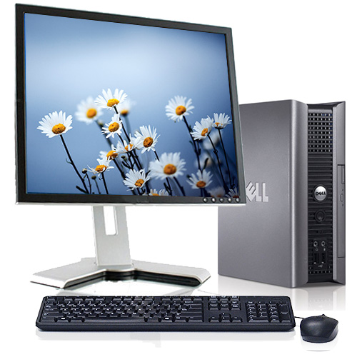 """Refurbished Dell Optiplex Desktop Computer PC  With a Intel 2.13GHz Processor 4GB RAM DVD Wifi with a 17"""" Monitor and Windows 10"""