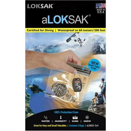 Aloksak Waterproof Bags - Loksak aLoksak Waterproof Re-Sealable Storage Bags (2 Pack) - 5