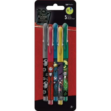 Colored Gel Pens - Disney - Nightmare Before Christmas - 5pk New Toys iw1768 - Christmas Pens