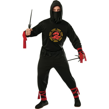 Ninja Halloween Costume Men.Black Ninja Mens Halloween Costume