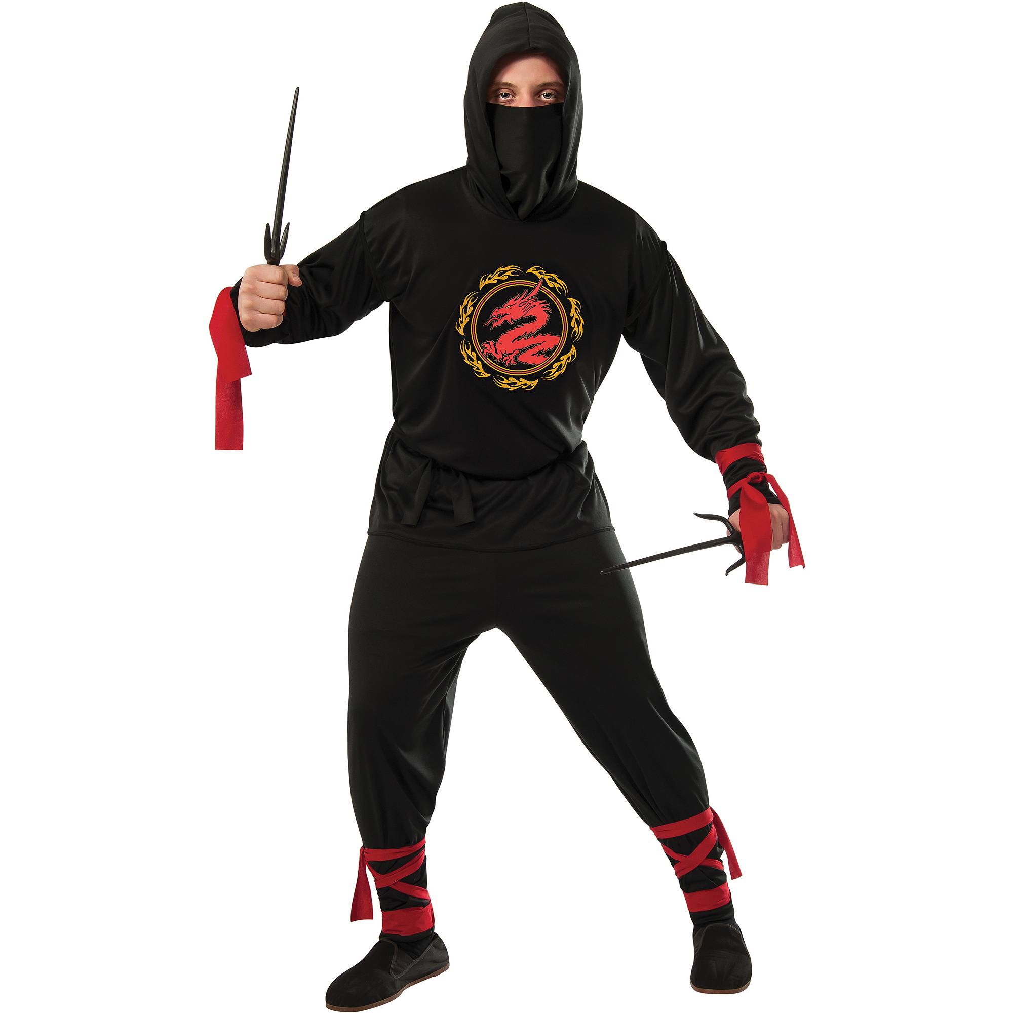 Black Ninja Mens Halloween Costume  sc 1 st  Walmart & Black Ninja Mens Halloween Costume - Walmart.com