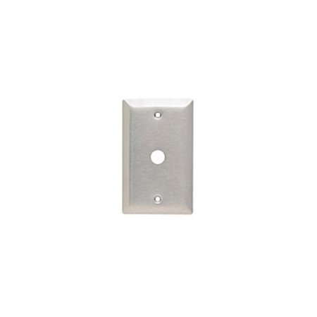 Standard 1-Gang Smooth Metal 302 Stainless Steel Telephone Cable Wall Plate SS11