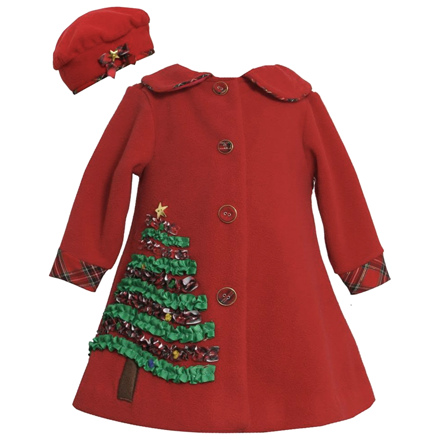 Little Girl Christmas Tree: Little Girls 2T-6X Red Holiday Christmas