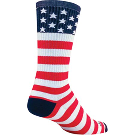 - SockGuy Crew USA Flag Sock: Red/White/Blue LG/XL