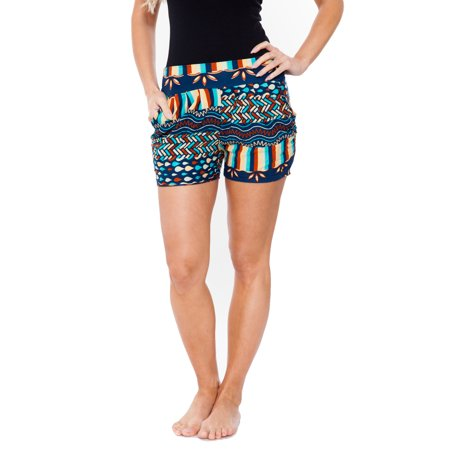 White Mark Women's Printed Shorts
