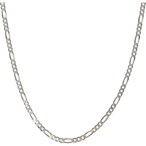 Men's Sterling Silver 120 Figaro Necklace, 30