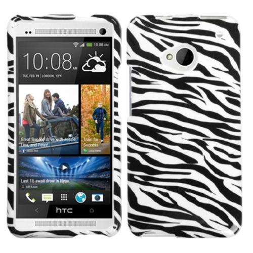 Insten Zebra Skin Phone Case for HTC: One/M7