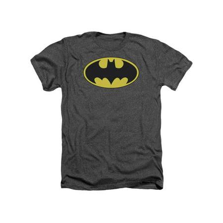 Batman DC Comics Classic Bat Logo Adult Heather T-Shirt Tee