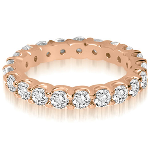 1.40 CT.TW Round Shared Prong Diamond Eternity Ring in 14K White, Yellow Or Rose Gold