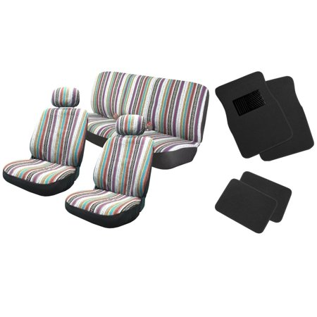 Baja Inca 12pc Saddle Blanket Seat Coverts Set Front Pair Bench For Jeep (Liberty Set)