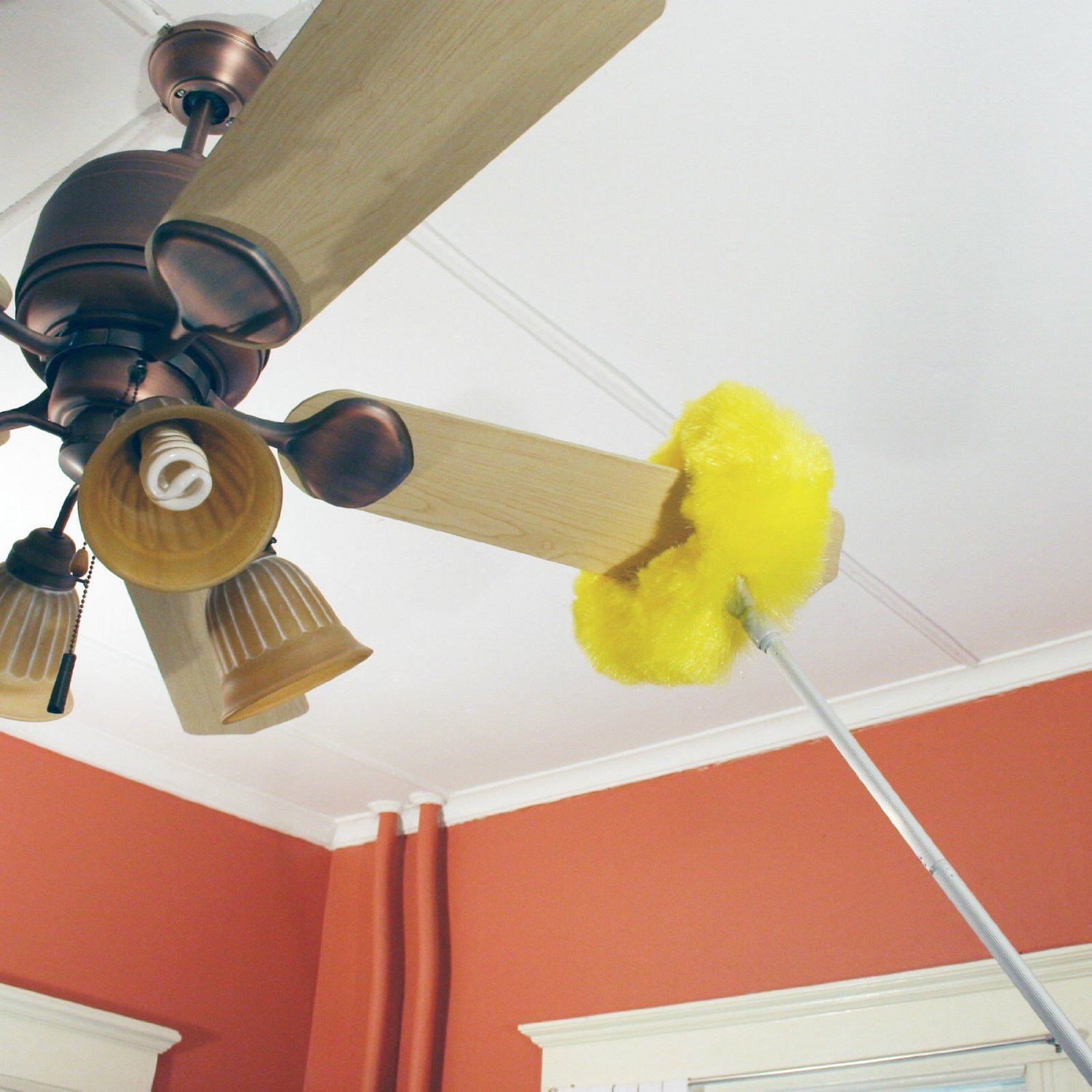 Extra long ceiling fan duster wrap around cleaning brush extends extra long ceiling fan duster wrap around cleaning brush extends 47 walmart aloadofball Images