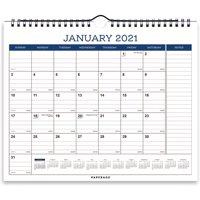 Paperage Calendar 2021 9 x 11 Desk/Wall Calendar, 12 Months, (Navy Blue)