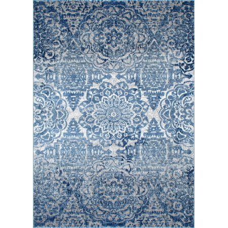 Nuloom Polypropylene 4' X 6' Rectangle Area Rugs In Blue Finish 200RZSP03A-406 ()